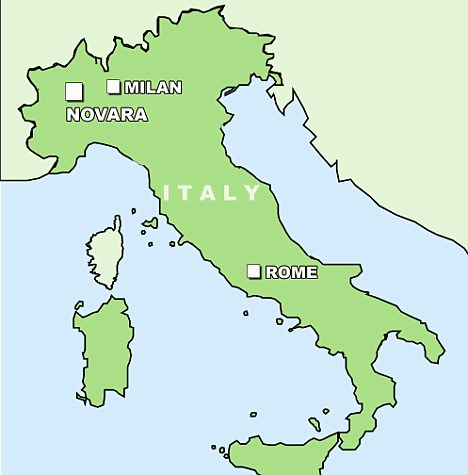 Carte Italie Novara.Lv Novara Carte Sainte Marie Lyon